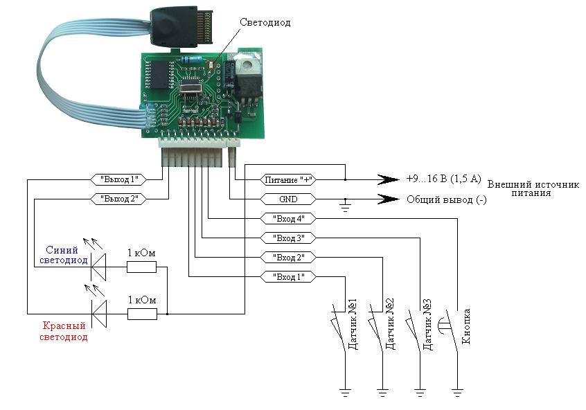 питания GSM контроллера
